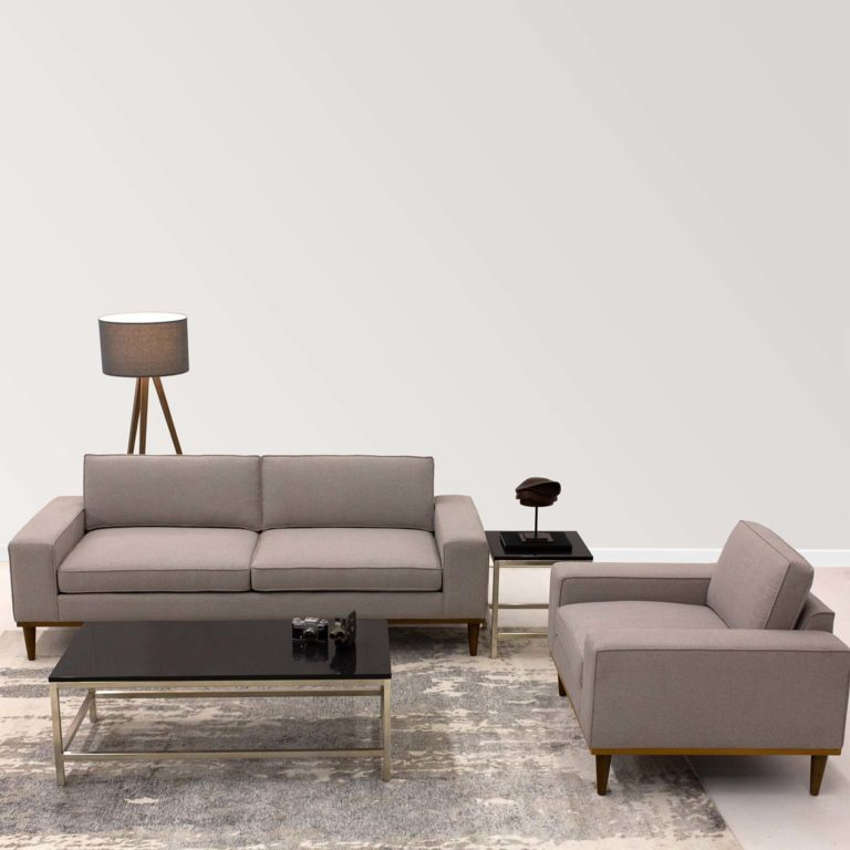Platform Axis Sofa and Ori Table